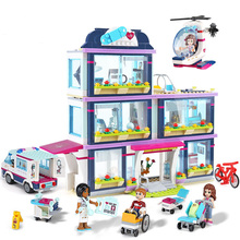 New 932pcs Heartlake City Park Love Hospital Building Blocks Sets Girls Gifts Toy Compatible With Friends 41318 41085 city love