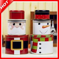 2017 New Chrismas Tin Box Set Gift Candy Cookie Storage Seal Box Wedding Favor Tin Box