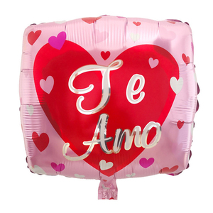 Image 5 - 10ピース/ロット18インチスペインte amo箔風船母の日ハート形ヘリウム空気グロボスの装飾のバレンタイン日用品baloes
