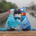 Kawaii Рио Плюшевые Игрушки Фильм Рио 2 Плюшевые Куклы игрушки Blu и Jewel Parrot Bird Мягкие Игрушки Дети Дети подарок