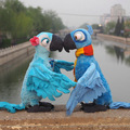 Kawaii Rio Plush Toys The Movie Rio 2 Plush Doll Toy Blu and Jewel Parrot Bird Stuffed Toys Children Kids Gift