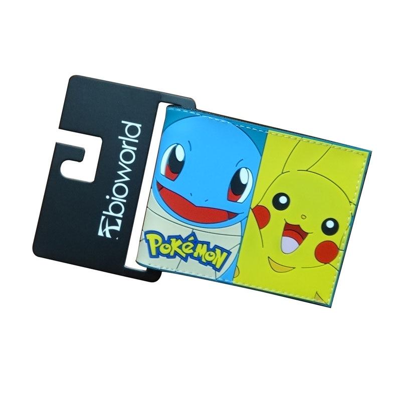 2018 New Pokemon Purse Cute Cartoon Pikachu Wallets carteira Dollar Price Card Holder Bags Gift Kids Boy Girl PVC Short Wallet все цены