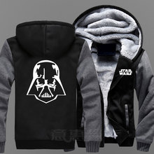 Star Wars Anime Hoodie The Last Jedi Thick Zipper hoodies