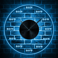 Modern Design 3D Wall Clock On The Wall The Time is Now Funny Clock Wall Watch Home Decor Transparent Clock Wall Watches