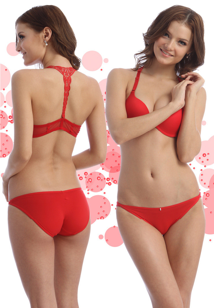a45ad73781 New Women Bra Sets Front Closure Sexy Bra Set Sexy Lace Racer Back Push Up  with Briefs Underwear Bra Set Lingerie Intimates-in Bra   Brief Sets from  ...