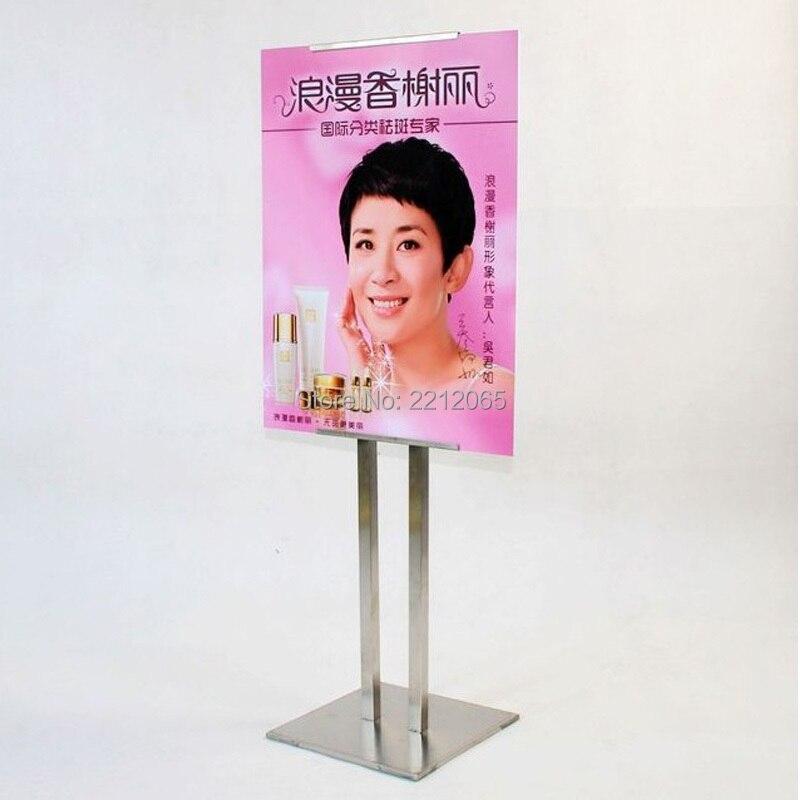 Affichage latéral simple de plancher de piédestal réglable et cadres d'affichage graphiques pour la publicité, les graphiques, la signalisation et l'affiche
