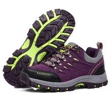 Bolangdi New Men Women Hiking Shoes Waterproof Camping Sports Shoes Trekking Climbing Mountain Non-Slip Men's Outdoor Sneakers