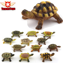 Small Size Tortoise Sea Turtle Simulation Animal Model Sea Life Action Figures Toy Gift For Children High Quality Wildlife World