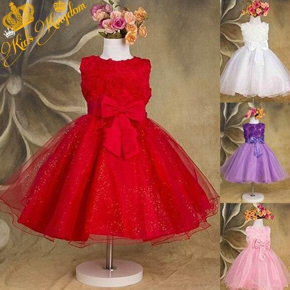 1 pièce seulement-haute qualité nouvelles filles robe pour bébé enfants violet rose Roses robes de princesse en mousseline de soie, princesse enfant