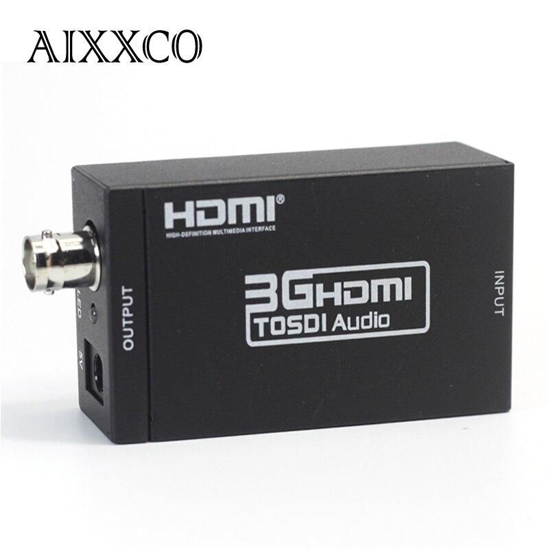 AIXXCO Mini 3G 1080P HDMI To SDI SD SDI HD SDI 3G SDI HD Video Converter With Power Adapter