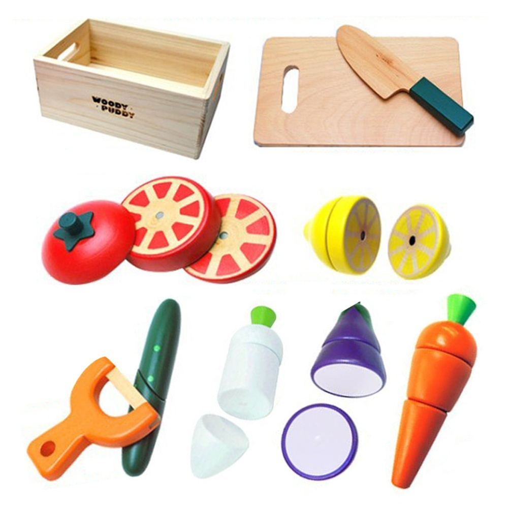 Wooden Magnetic Vegetable Kitchen Cutting Accessories Cooking Tools ...