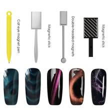 Vrenmol двойная головка магнит Стик Гель-лак «кошачий глаз» лак 3D линия полосы эффект сильный DIY магнитная доска дизайн ногтей инструмент