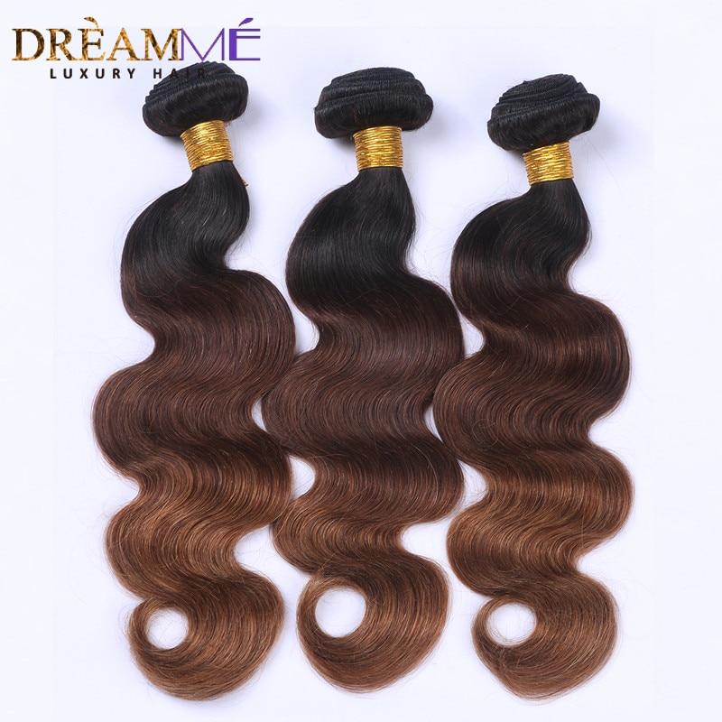 # 1B / 4 / 30 컬러 바디 웨이브 3 번들 Ombre 브라질 인체 - 인간의 머리카락 (검은 색) - 사진 1