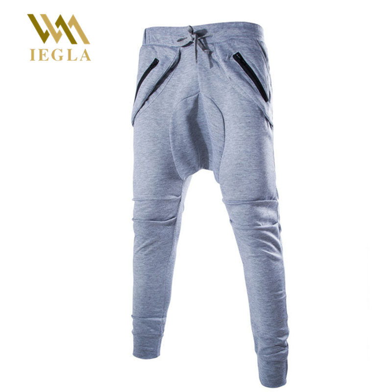 Streetwear Trousers Clothing Harem-Pants Joggers Block-Patchwork Zipper-Pockets Stripe