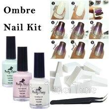 15ml Nail Art Peel Off Liquid Tape Palisade Base Coat Gradient Nails With Sponge Tweezers Nail Art Kit Set Cuticle Clean Tool
