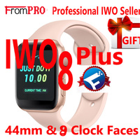 FROMPRO IWO 8 PLUS 44mm Watch 4 Heart Rate Smart Watch case for apple iPhone Android phone IWO 5 6 upgrade NOT apple watch