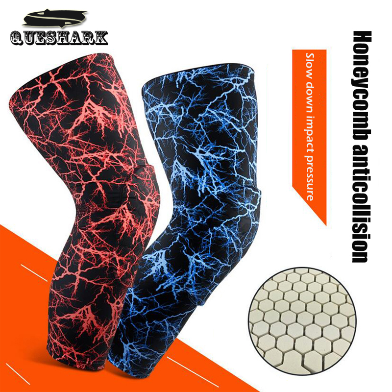 1Pcs Camouflage Basketball Knee Pads Sports Safety Knee Calf Leg Sleeve Honeycomb Pad Kneelet Guard Protective Kneepad