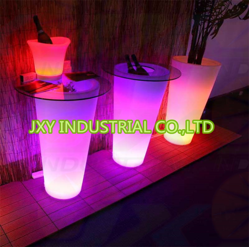 Led Illuminated Home Decoration And Outdoor Big Flower Pot Luminous Barrel Tall Flower Pot Lights In Flower Pots Planters From Home Garden On