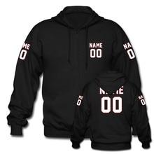 LAUKEXIN Men Women Personalized Your Name Number Front and Back Both Sleeve Print Jersey Hoodies Fleece Zip Hoodie Coat