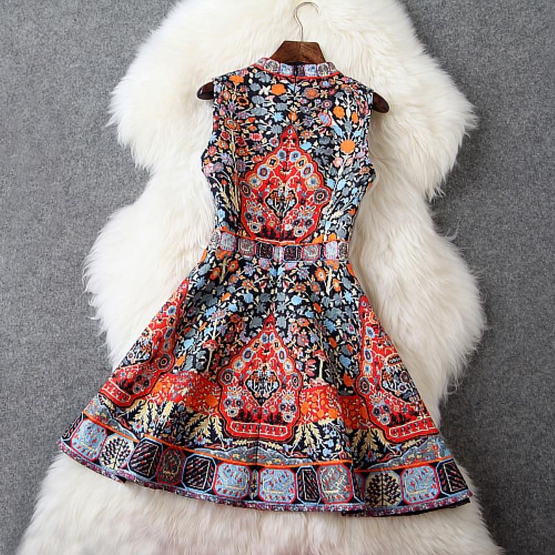 Noir Concepteur Poitrine blanc Perles Bleu Mignon Mode Dress 2015 Marque De Noir Printemps Blanc Robes Femmes Motif Vintage Été Orange D'impression R8qY8zI