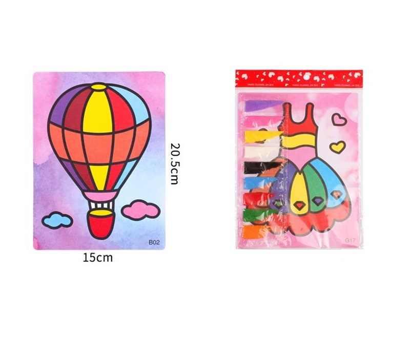 สุ่ม style15 * 20.5 เซนติเมตร 2 ชิ้น/ล็อตเด็ก DIY ทรายที่มีสีสันภาพวาดศิลปะการวาดภาพความคิดสร้างสรรค์ของเล่นทรายกระดาษศิลปะหัตถกรรมของเล่นเด็ก