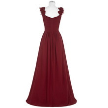 Kate Kasin Long Dress 2017 Sexy V Neck Ruched Padded Burgundy Formal Wedding Party Dress Robe Vestidos Women Dresses Clothing