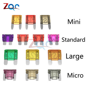 10pcs Mini Standard Micro Fuses 5A 7.5A 10A 15A 20A 25A 30A 35A 40A Amp Clip Assortment Auto Blade Type Fuse Set for Car Truck image