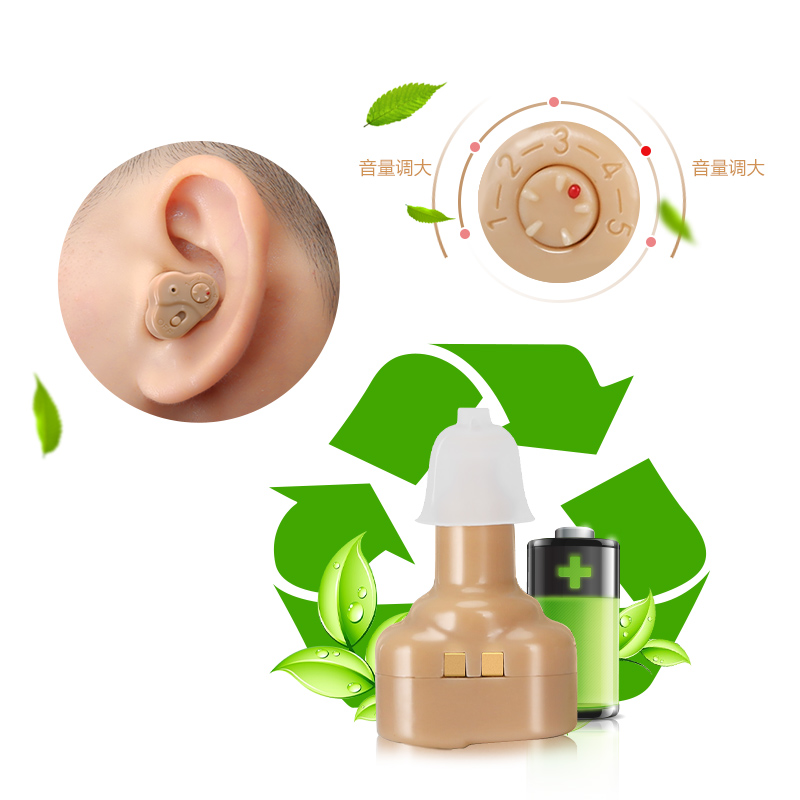 Cofoe New Rechargeable Hearing Aid HIFI Sound Intensifier for Hearing Loss Elderly Adjustable Volume Mini Invisible Hearing Aids cofoe new rechargeable hearing aid hifi sound intensifier for hearing loss elderly adjustable volume mini invisible hearing aids