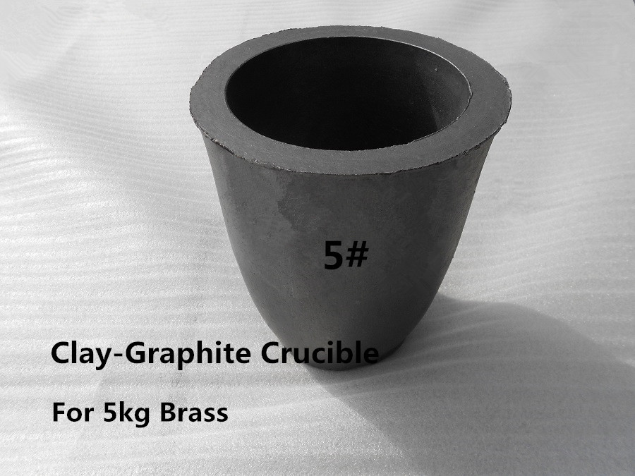 A5# Clay Graphite Crucible for 5kg brass casting ,aluminum melting pot ,small melting furnace silica melting melt cauldron crucible dishes pot casting for gold silver platinum refine inside diameter 45mm height 22mm