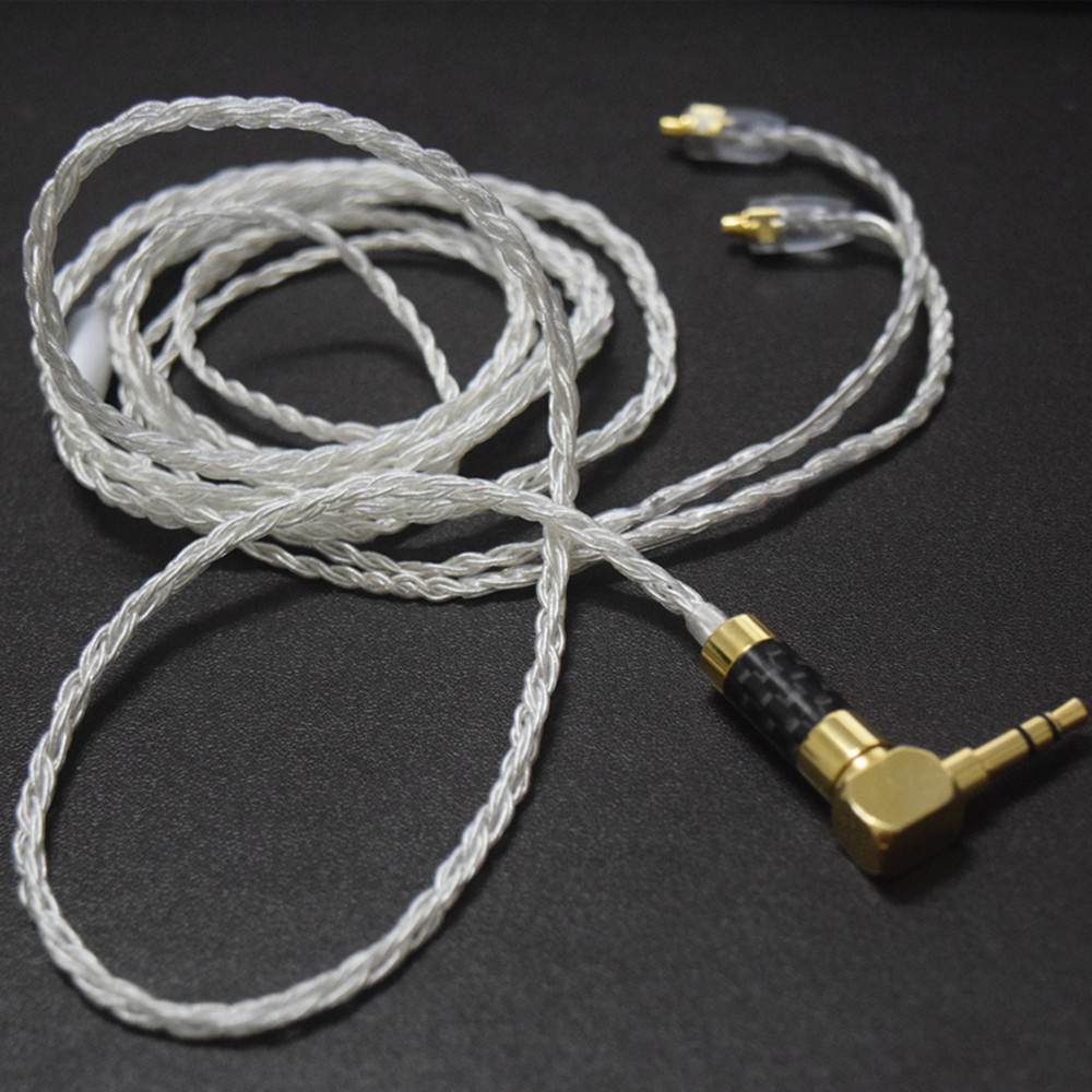 100% Newest FENGRU 1.2M Hand-made 8 core replaceable MMCX upgrade cable HiFi Earphone Wire For Shure SE535 SE215 SE846 UE900 цилиндр cdj2b16 50 16 50 air cylinder