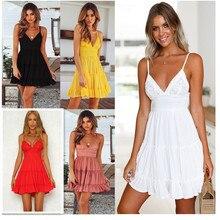 ZOGAA 2019 New Hot Sales Belt V Hooker Flower Outback Butterfly Princess women dress Lace Sleeveless Solid V-Neck Beachwear