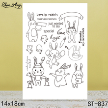 ZhuoAng Dancing Rabbit Clear Stamps/Seals For DIY Scrapbooking/Card Making/Album Decorative Silicon Stamp Crafts zhuoang rose butterfly heart shaped clear stamps seals for diy scrapbooking card making album decorative silicon stamp crafts