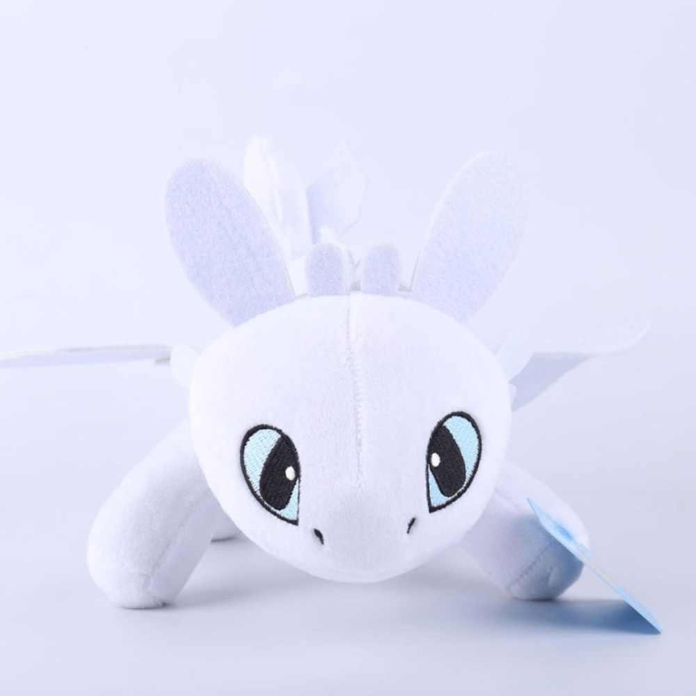 25 centímetros brinquedos dragão fúria da noite Desdentado Fúria Da Noite Plush Como Treinar O Seu Dragão fúria da boneca brinquedos de pelúcia luz brinquedos para as crianças