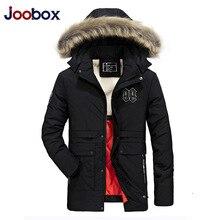 JOOBOX Brand 2017 New Fashion Male Coat Winter Jacket Men Fur Hooded Dark Warm Men Jackets Front Pockets Top Quality Parkas Male
