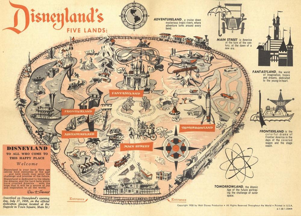 Five Lands Dreamland Amusement Park Map Classic Vintage Retro Kraft Decorative Poster Maps Home Bar Posters Decr Wall Canvas Sti Wall Canvas Bar Posterscanvas Wall Aliexpress