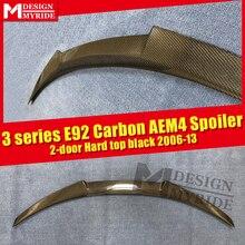 For BMW E92 AEM4 Style Spoiler Tail Wing 2-Door 320i 328i 323i 325i Carbon Fiber  Gloss Black Rear Trunk Spoiler Wing 2006-2013