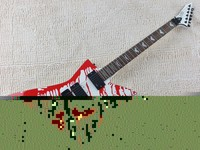 Top Quality EMG Pickup ESP LTD DJ 500 Blood Tears Electric Guitar Floyd Rose Bridge 7