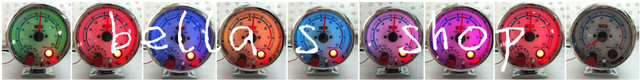 7 colors  rpm  3.75 inch ket gauge free shipping tachometer chrome/zinc clear lens
