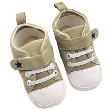 Factory Price New Sports Sneakers Soft Soled Canvas Crib Shoes Anti Slip Shoes First Walkers