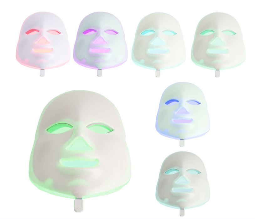 Multifunction 7 Colors LED Facial Mask Face Beauty Spa Therapy Skin Facial Whitening Health Care Electric Device Massage health care home use high electric potential therapy device beauty
