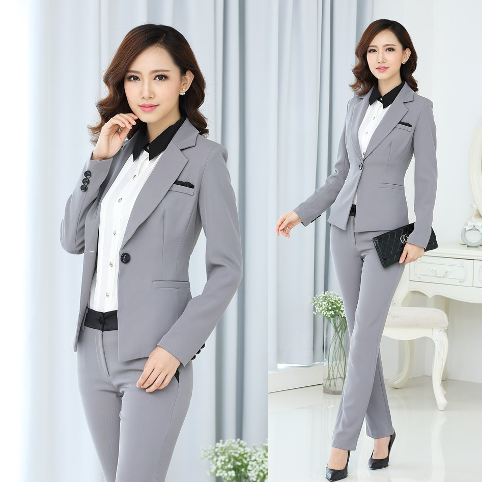 new 2015 spring and autumn formal white blazer women suits