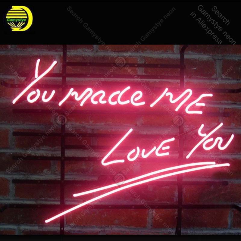 Neon Sign for new you made me love you Neon Bulb sign