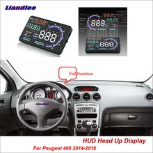 Liandlee For Peugeot 206 207 407 408 2014-2018 OBD Safe Driving Screen Car HUD Head Up Display Projector Refkecting Windshield