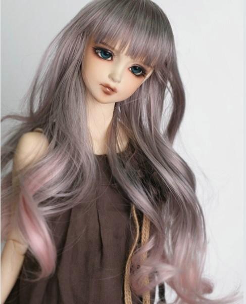 Тегін жеткізу Жаңа 1/3 1/4 1/6 Bjd Wig Жоғары температуралық Long Wire Bjd Wig SD BJD Doll үшін