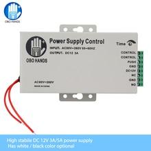 Controle de acesso obo mãos 12vdc, interruptor de fonte de alimentação 3a/5a com atraso de tempo, entrada ajustável AC90V 260V, saída sem/nc fechadura elétrica para 2