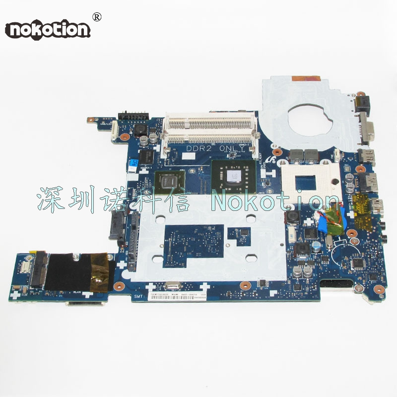 NOKOTION BA92-05425A Laptop Morherboard For Samsung Q320 P320 PC PM45 DDR2 G105M Graphics Card Main Board free cpu ba92 05907b ba92 05907a notebook pc motherboard for samsung r505 main board sockets1 ddr2 ati discrete graphics free cpu