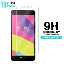10 Pcs Tempered Glass For sugar Y11 Screen Protector 2.5D 9H Premium Protective Film