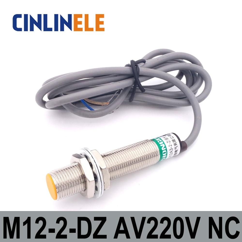 M12 LJ12A3-2-J/DZ 2mm inducción AC 2 alambre NC Sensor de metal ...