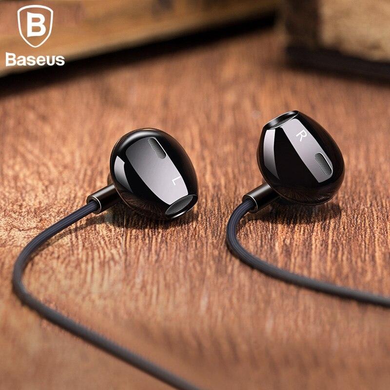 Baseus H06 In-ohr Stereo Bass Kopfhörer Kopfhörer 3,5mm jack wired steuerung HiFi Earbuds Kopfhörer für iPhone Xiaomi Handy