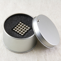1 Sets 216pcs 6PCS 5mm Balls Magic Magnetic N50 New High Performance Neodymium Magnet N50 Free